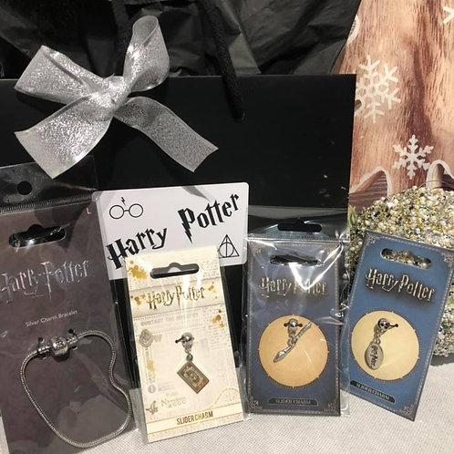 Harry Potter Gift Set - Charm Bracelet & 3 Charms A6