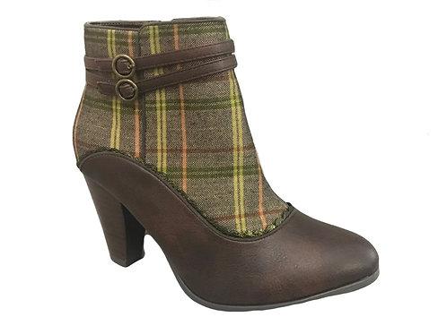 Ruby Shoo Fleur Brown  Boot