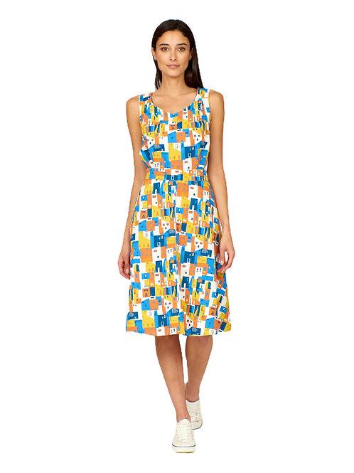 Pretty Vacant Minnie  Houses Print Dress