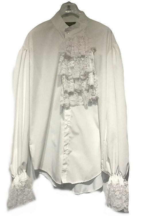 Steam Punk White Lace Frill shirt