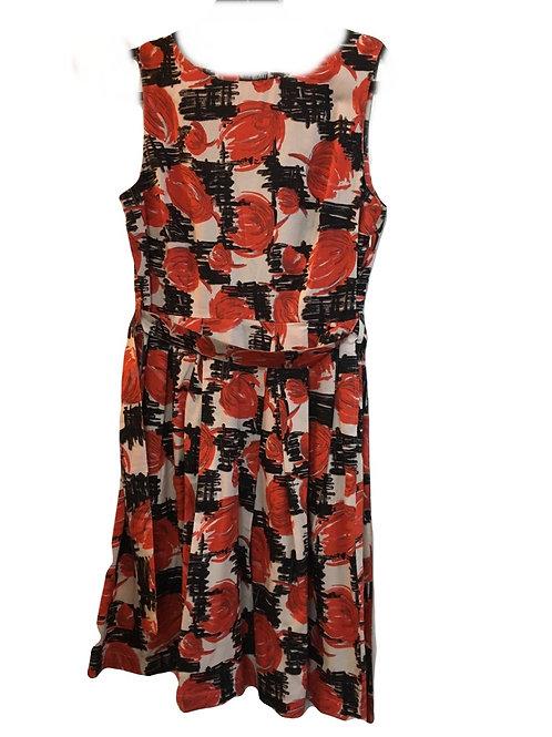 Pretty Vacant Paula Orange Bloom Print Dress