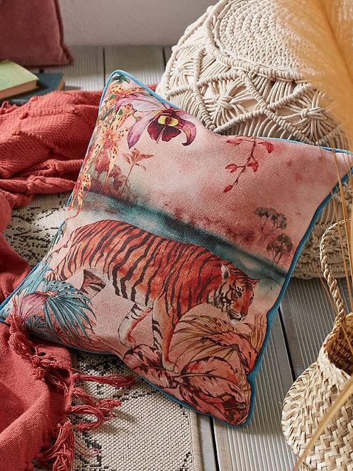 Joe Browns Terrific Tiger Floral Reversible Cushion