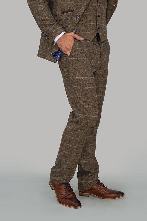 Albert Brown Tweed Check Trousers