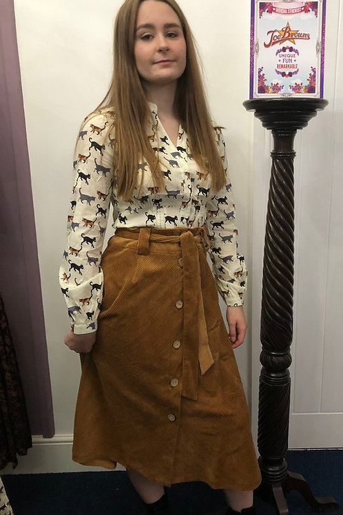 Joe Browns Belted Cord Skirt
