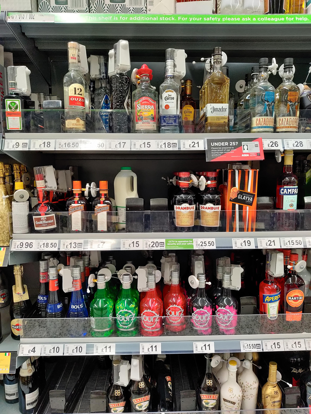 Milk in the spirits section