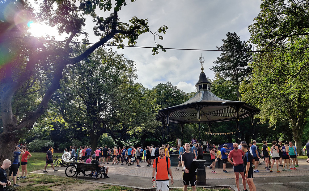 The Bandstand in Cannon Hill Park, Birmingham.