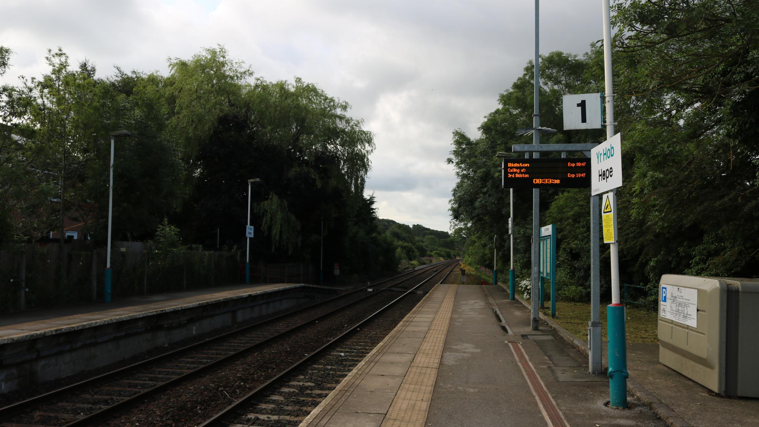 Hope (Flintshire) from the northbound platform