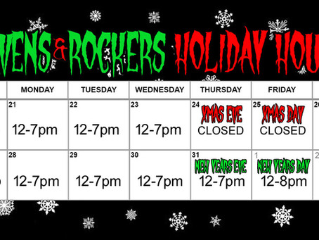 R&R Holiday Hours
