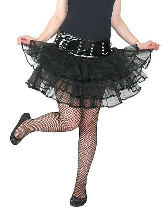 HELL BUNNY Punk Petticoat Skirt