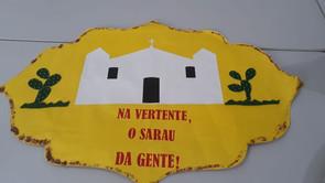 Cartaz do sarau da Vertente.