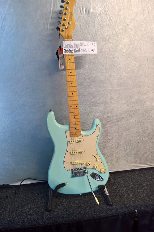 Duck Egg Blue Stagg Electric Guitar