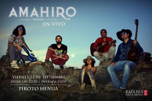 "AMAHIRO performs for 1th time at  ""PIROTO HENUA"" Club."