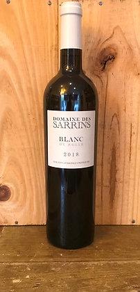 """Domaine des Sarrins - IGP Var - """"Blanc de Rolle"""" 2018"""