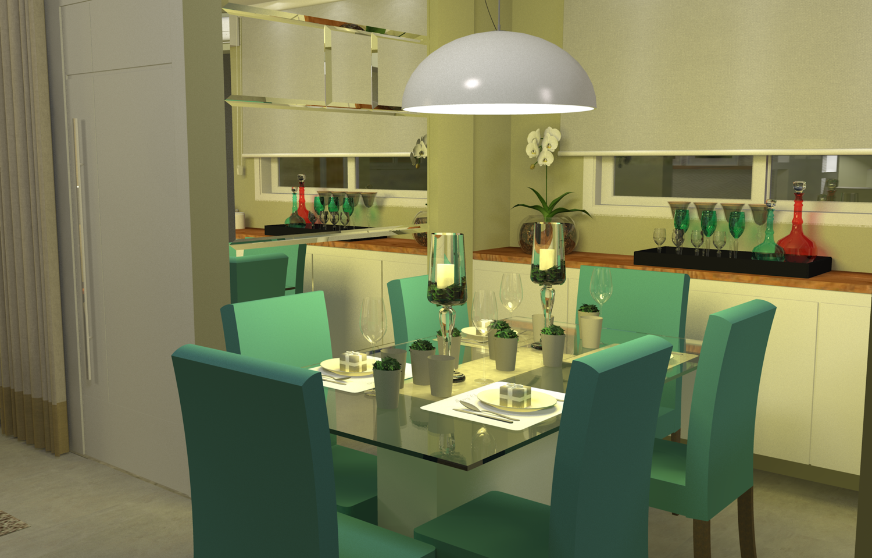 Sala de Jantar no Litoral
