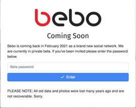 Social Media Site Bebo Is Back!