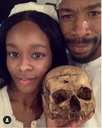 Azealia Banks Displays Skull Of 6 Year Old Girl During Interview