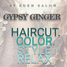 GYPSY GINGER SALON WEBSITE