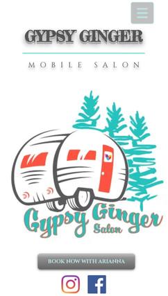 GYPSY GINGER MOBILE SALON WEBSITE