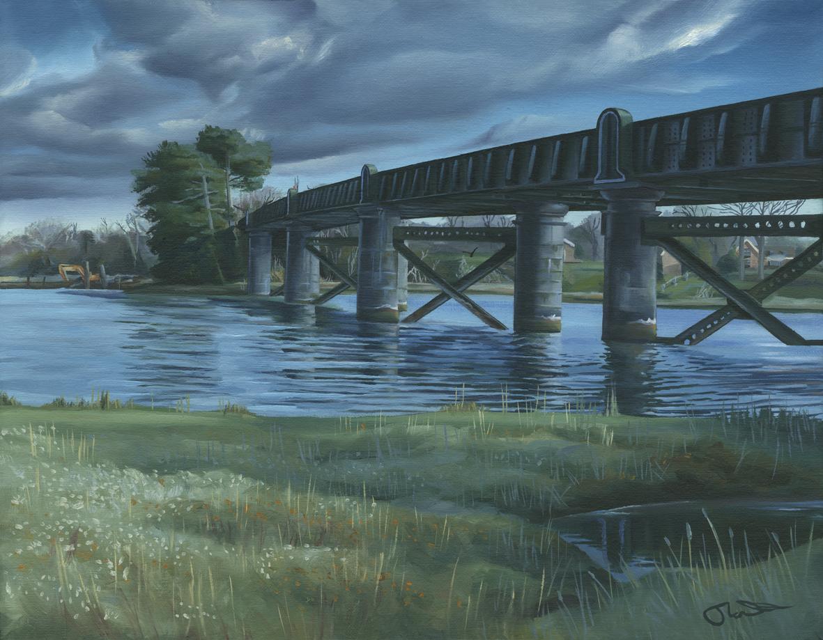 Railway Bridge over the Hamble