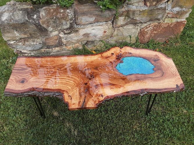 Live Edge Blue Oak Table - Sold