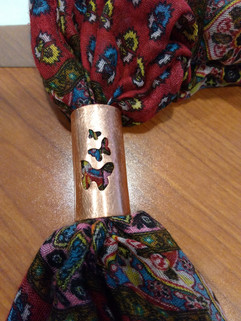 Butterfly Scarf ring