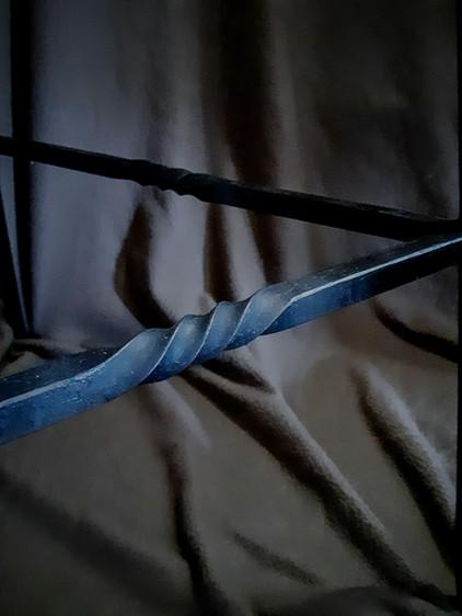 Detail from Oak & Iron Oak Table