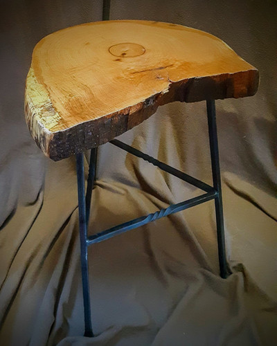 Oak & Iron Coffee Table - $350