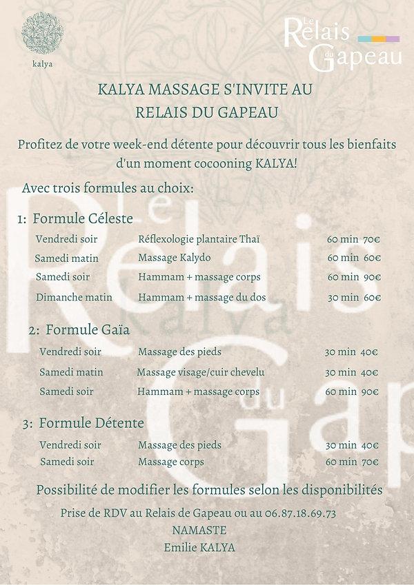 KALYA MASSAGE S'INVITE AU RELAIS DU GAPE