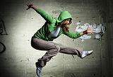 Tänzerin die Hip Hop tanzt