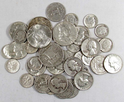 Silver coins, $500 per month