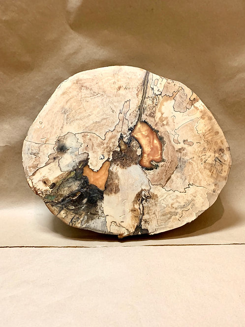 Dale Bowers Epoxy Charcuterie Board Spalted Maple Food Safe Finish D4