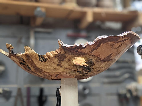 Maple Burl With French Cleat 2021 XVII Mark Stinson Vessel Company