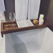 Black Walnut Bath Tub Tray