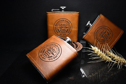 South Mountain Distilling Co. 6oz Leather Flask