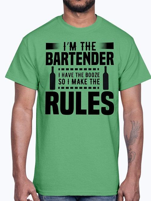 Im the Bartender I Make the Rules? -  Bartender- Cotton Tee