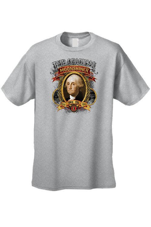 Men's T Shirt Moonshiner Since 1776 George Washington Tee