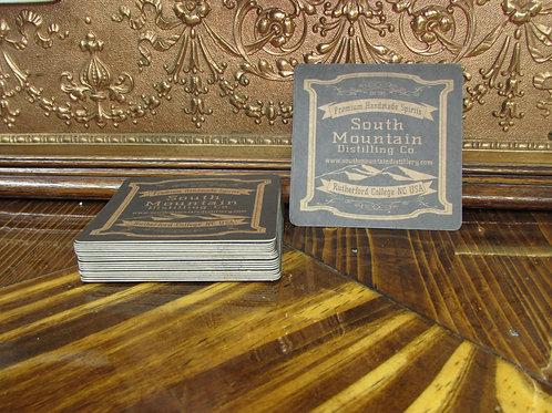 Set of 10 South Mountain Distilling Co. cardboard bar coasters