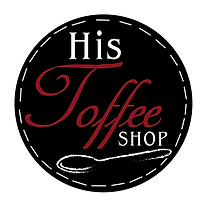His Toffee Shop Logo, handmade toffee & treats made with love by Pam Carroll