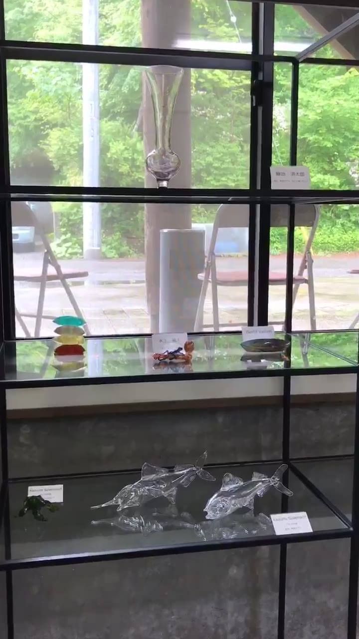 グラススタジオポンテの「ポンテが集めたグラスマエストロ達の作品展」スタートしました❣️ 皆様、どうぞお越しください。