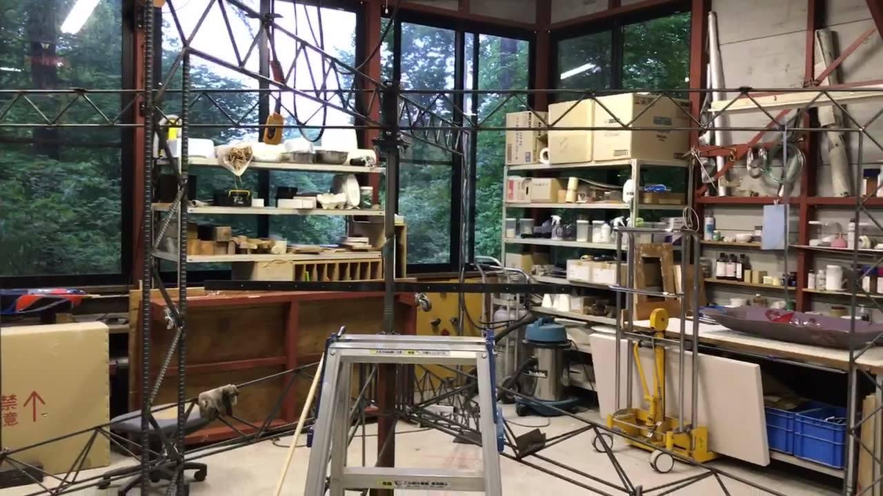 Glass Studio Punty野外展示作品ただいまの進み具合…💦😤