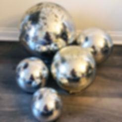 Light Up Mercury Globes Various Sizes