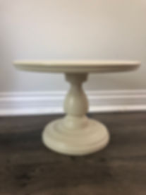 "Wood 12"" Ivory  Cake Stand"
