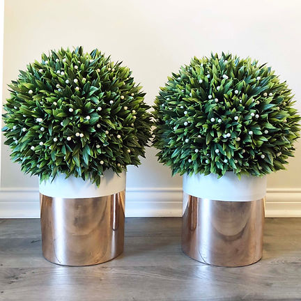 Rose Gold Potted Topiary's