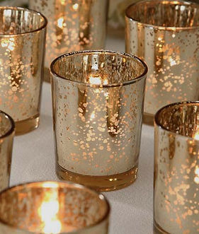 Gold or Silver Mercury Votive Holders