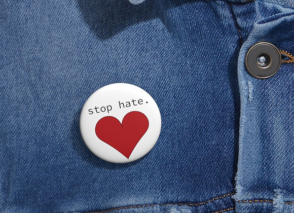 Stop Hate Pin
