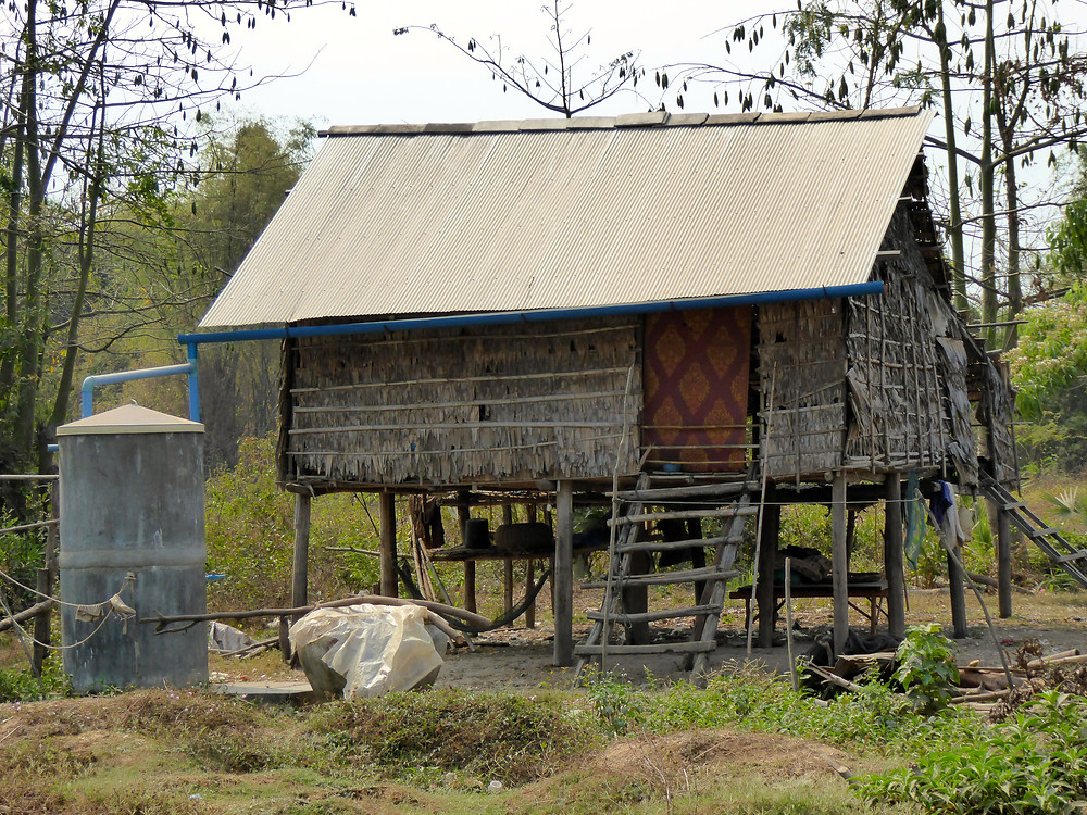 One of the watertanks donated by Opportunity Cambodia