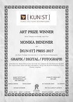 Urkunde Gewinner Kunst Stuttgart International
