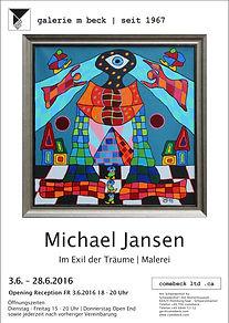 Michael M. Jansen . Ausstellungsplakat 2016