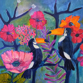 Toucans and Blossoms