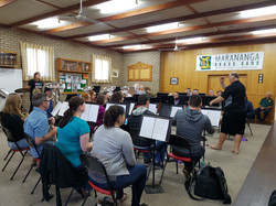 Rehearsing at Marananga Band Hall